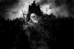 black_and_white_fantasy_art_Odin_mythology_gods_1943x1296