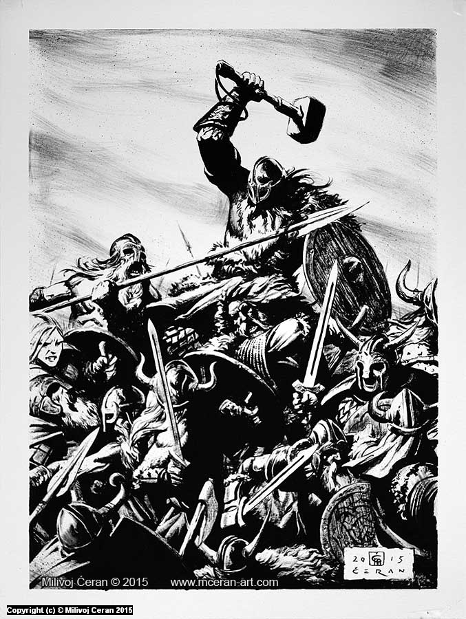 Aesir and Vanir War. Artista: Milivoj Ceran