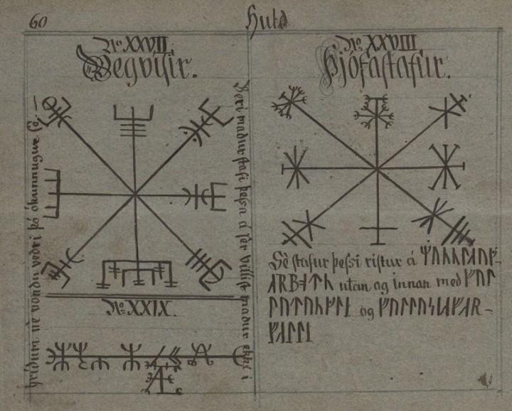 Esta página do Manuscrito Huld apresenta na parte superior esquerda, o
