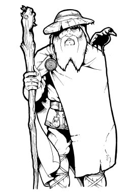 Odin God of Magic por Darkjimbo