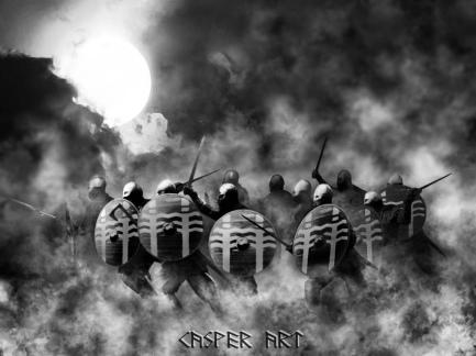 Vikings of Einherjar Attack por Casper Art