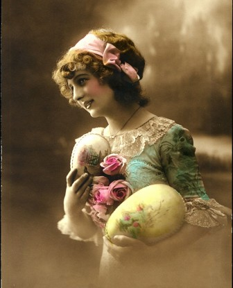 A fotografia vintage, talvez representativa de Ostara.