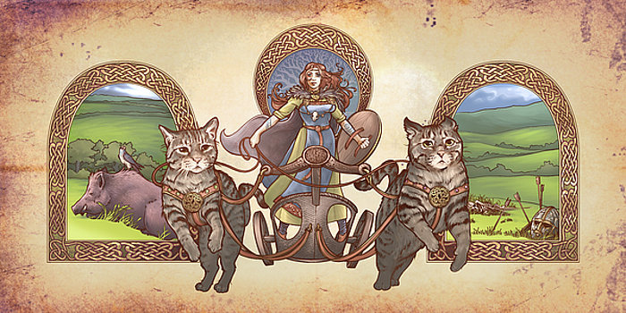 freya-driving-her-cat-chariot-triptic-garbed-version-dani-kaulakis